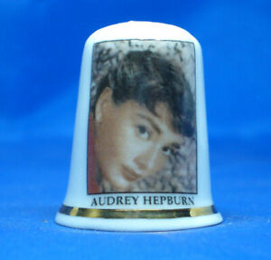 Birchcroft Porcelain China Thimble Audrey Hepburn Icon Box