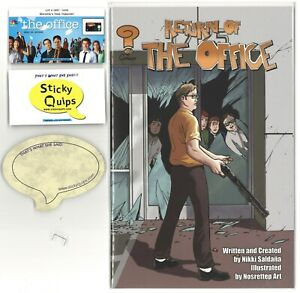 """""""The Office"""" used prop staple + Sticky Quip and Return of the Office comic"""