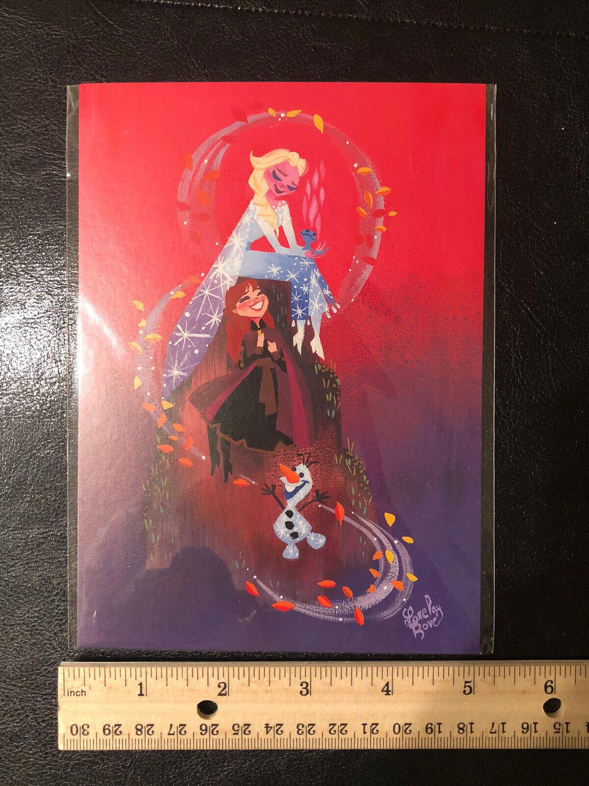 """Disney WonderGround Gallery Vuelie Magic /""""Frozen/"""" Postcard by Neysa Bove New"""