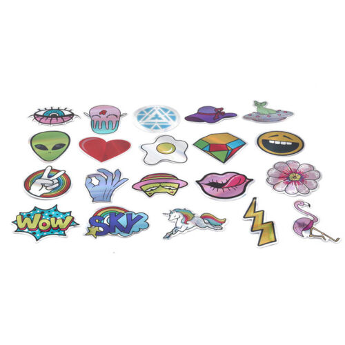 20 Sheets Flash Stickers Skateboard Stickers Graffiti Laptop Car Luggage Decal
