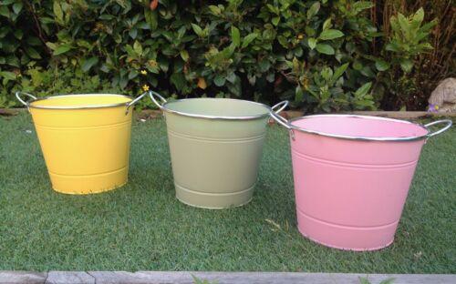 Métal Couleur Pot de fleur porte-conteneur JARDINIERE balcon jardin metal fer