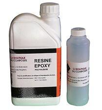 Kit de 1Kg de résine EPOXY  polyvalente. Stratification, collage, imprégnation.
