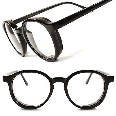 Designer Hipster Black Retro Mens Womens Clear Lens EyeGlasses Round Frame C91A