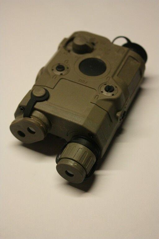 PEQ-15 Green Laser&White LED IIIuminator for Marui AEG GBB (Tan)