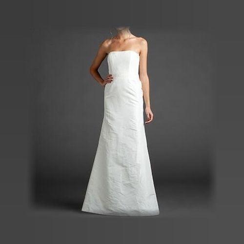 Vestido de boda Vestido de Novia Nicole MILLER Seda sin tirantes ...