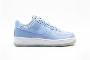 Details about NIKE AIR FORCE 1 '07 ESSENTIAL ALUMINIUM BLUE WHITE AO2132 400 UK 9