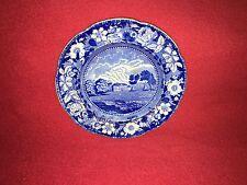 Historical Staffordshire Dark Blue Plate Hartford Hall Norwich By Stevenson 1825