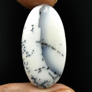 Cts-25-70-Natural-Scenic-Dendritic-Opal-Cabochon-Oval-Exclusive-Gemstone