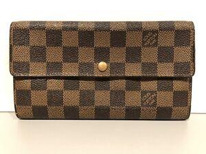 Louis-Vuitton-Damier-Portefeuille-Sarah-Purse-Wallet-Checkered-LV-Coin-Wallet