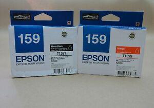 [1289*] EPSON 159 ORANGE (T1599) and PHOTO BLACK (T1591) INKS ( RRP>$66 )