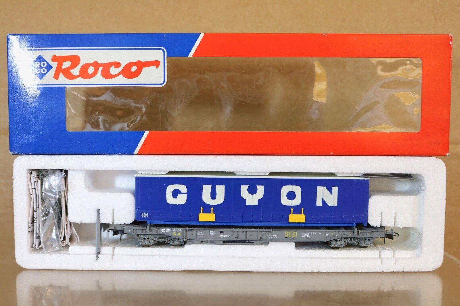 ROCO 46374 SNCF GUYON AVIGNON SEGI TRUCK TRAILER TRANSPORT WAGON MINT scatolaED nq