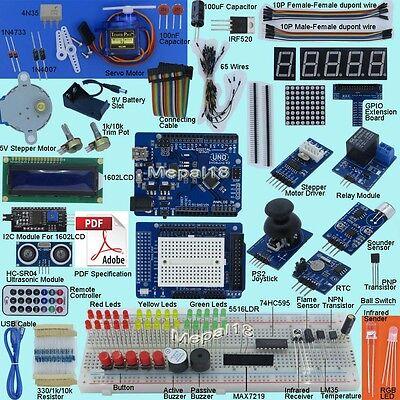 New Ultimate UNO R3 Starter Kit for Arduino/Infiduino 1602LCD Servo Motor-V2