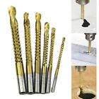 Set of 6 HSS Ti Drill Bit Woodworking Wood Plastic Metal Cutting Holesaw