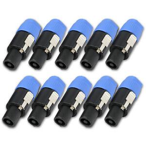 10PCS-Speakon-Connector-2-Pole-Male-Plug-Compatible-for-Audio-Loudspeaker-Cable