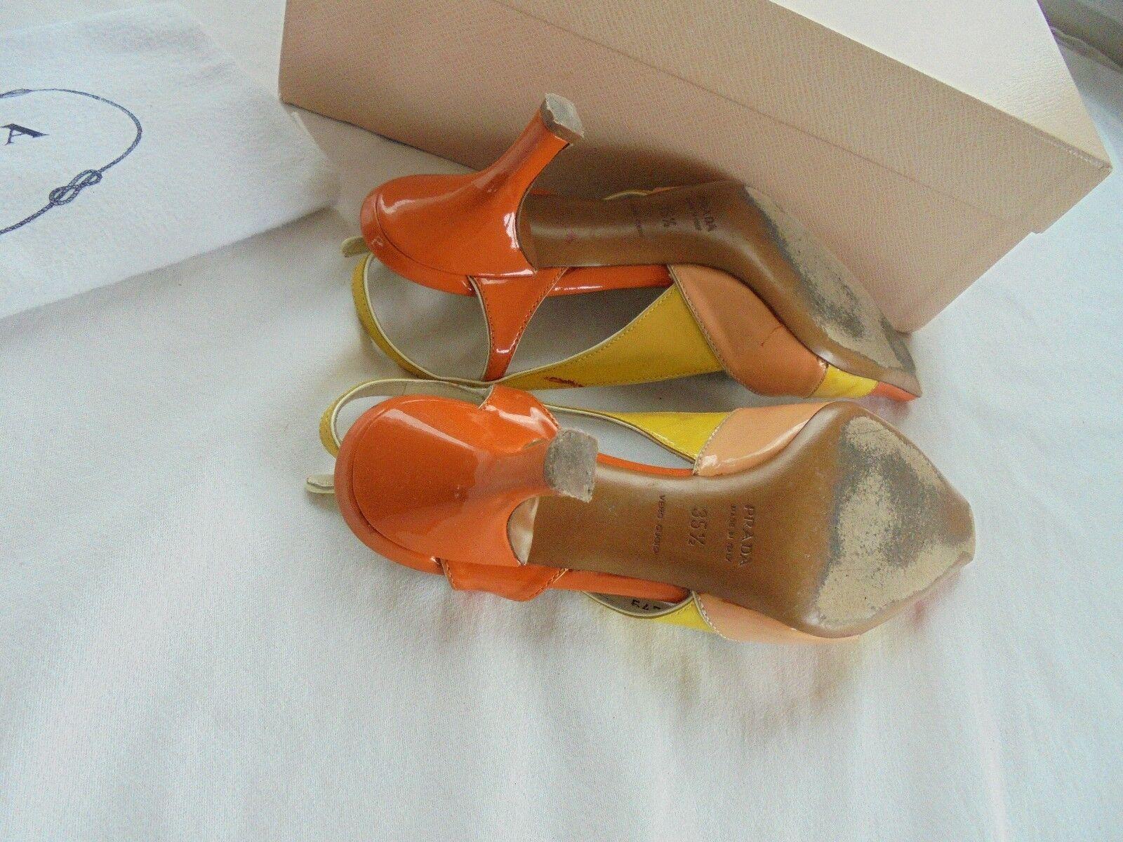 Sehr schöne Prada Lackleder Nude Schuhe Pumps NP  Sandalen Schuhe Nude Gr. 35 35,5 36 a35db2