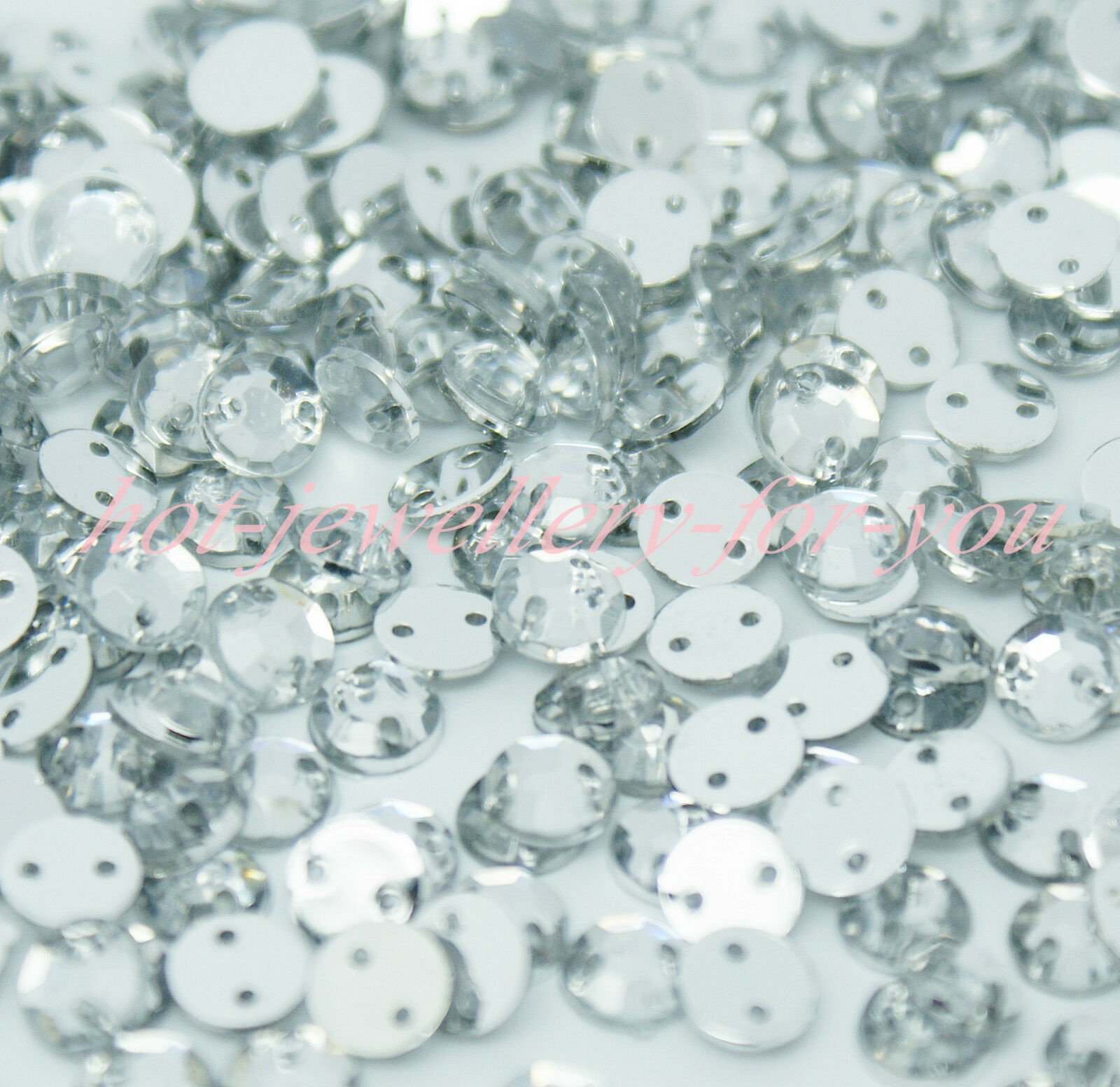 5000 Clear Flatback Acrylic Sewing Round Rhinestone Gems 5mm Sew on beads
