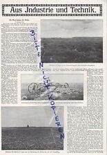 Werbung 1912 Portrait Aus Industrie und Technik Dampf-Maschinen Pflug Schiffe