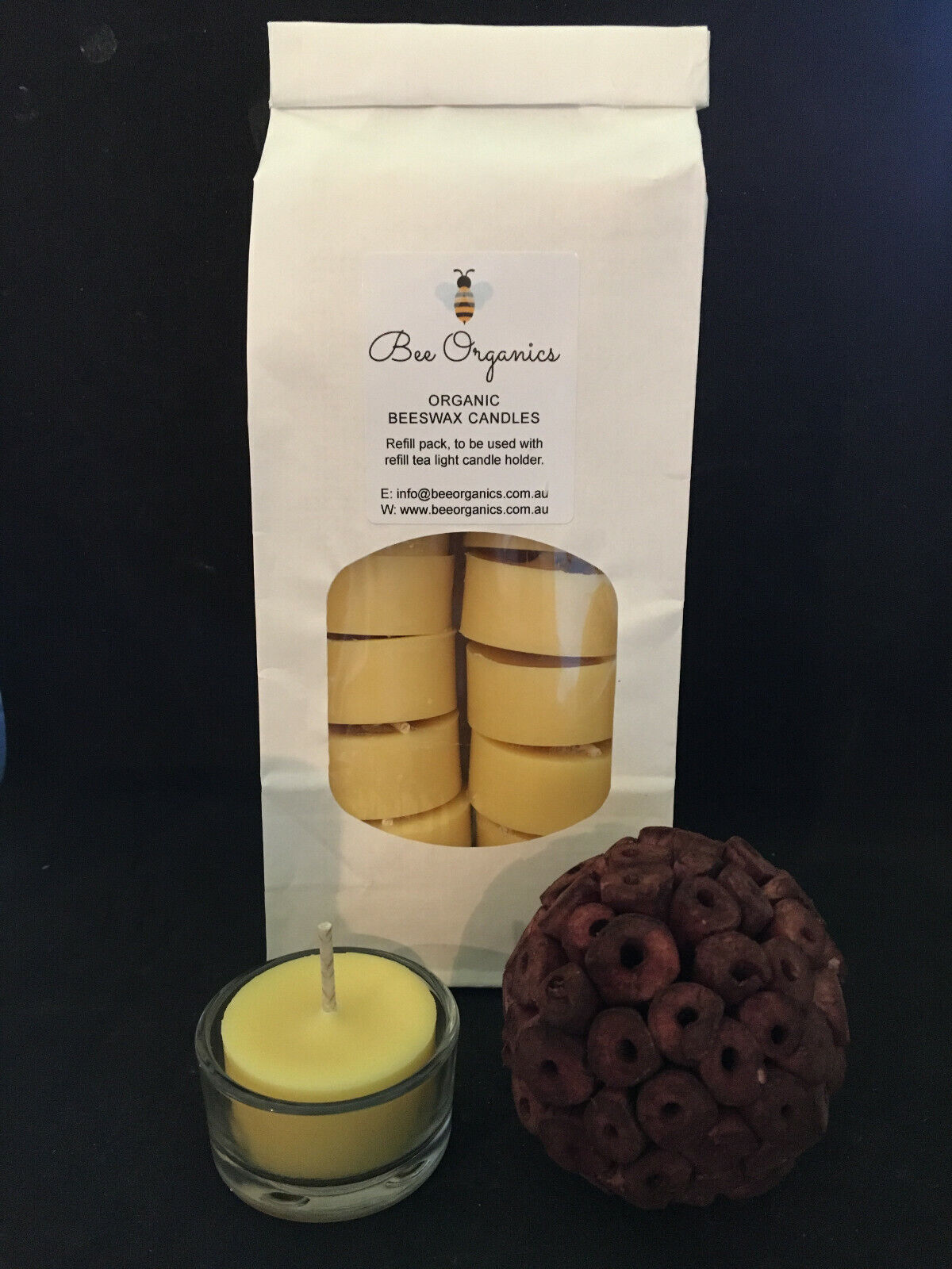 Australian Organic Beeswax Hand Pourot Tealight Candles Natural Scent NO FUMES