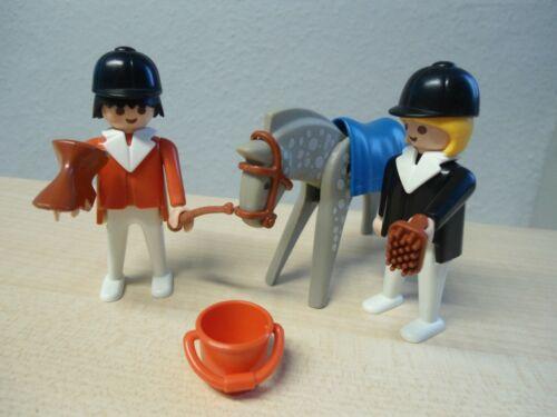 """Playmobil  Klicky Set 3305 /""""2 Reiter mit Pferd/""""  gebraucht"""