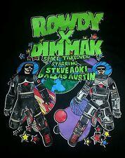 Rare sold out rowdy vs. dim mak dallas austin steve aoki shirt XL vintage euc