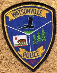 Details about Watsonville California Police Shoulder Patch Uniform Shirt  Removed