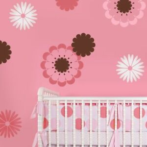 Details About Daisy Crazy Kit 2 Wall Stencil Easy Diy Nursery Decor With Stencils