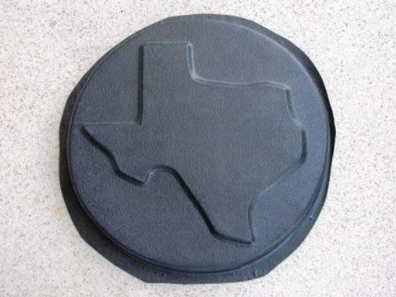 """poly plastic cast 100/'s Texas stepping stone mold 23/"""" x 22/"""" x 2/"""" huge"""