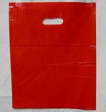 "100 20"" x 20"" x 5"" NEW RED GLOSSY Low-Density Premium Plastic Merchandise Bags"
