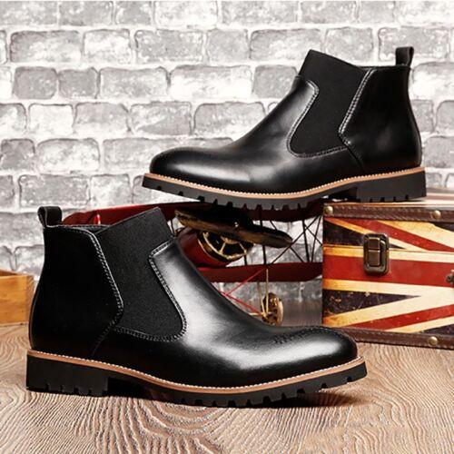 Casual Enkel Instappers Laarzen Heren Pu Buiten schoenen Oxford leer srCxBhQtd