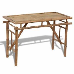 Vidaxl Tavolo Tavolino Pieghevole Richiudibile In Legno Di Bambu Interno Esterno Ebay