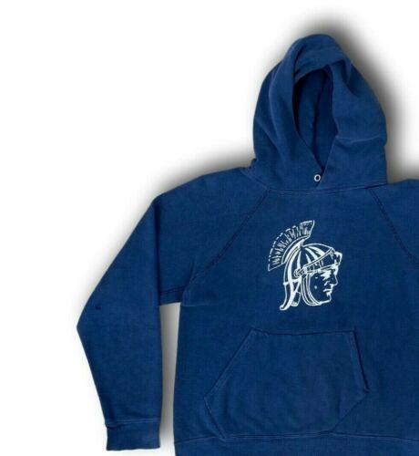 Vintage 70's CHAMPION Blue Bar 'Spartans' Hoodie C