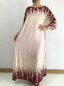 Details about New Women Cream Handmade Cotton 100% Kimono Long Dress Plus  Size L XL XXL 3XL