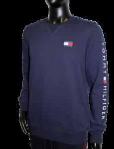 Neu Tommy Hilfiger Herren Sweater Pullover navy Logo