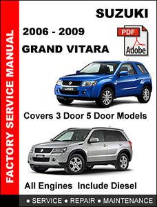suzuki grand vitara 2006 2007 2008 2009 factory service repair rh ebay com suzuki grand vitara manual transmission for sale suzuki grand vitara manual