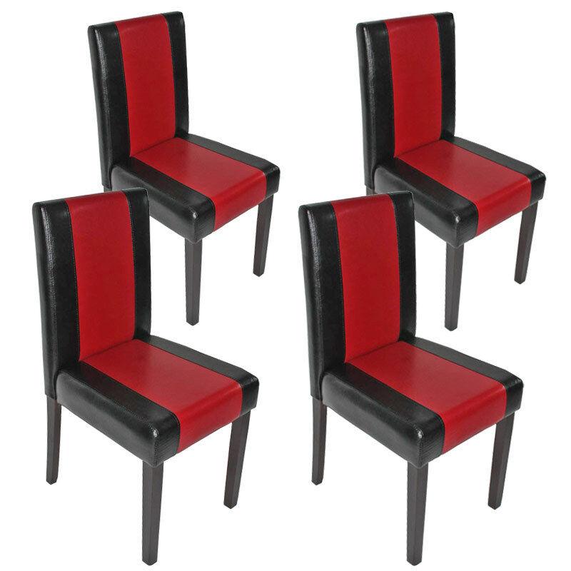 4x chaise de salle à à salle manger chaise fauteuil Littau cuir ...