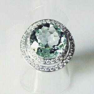 Unikat Santa Maria Aquamarin Saphir Damen Ring 925 Silber Rhodium 19,1 mm 60