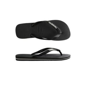 Mens Havaianas Rubber Logo Black Glacier White Sandal Flip Flop