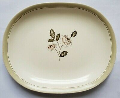 Pottery & China Vintage Crown Devon Ivory Queen 'white Rose' Oblong Platter