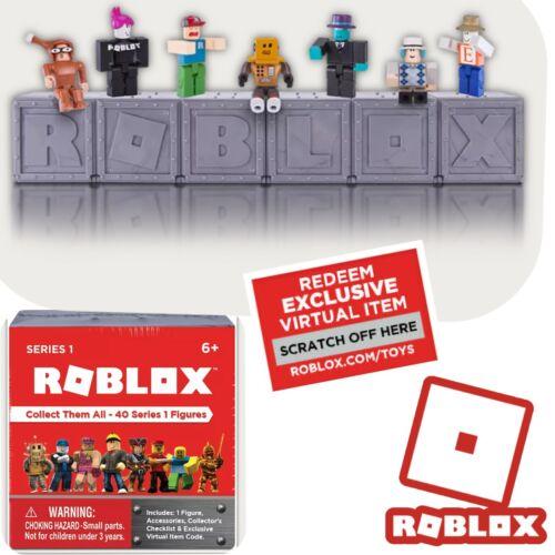 Scellé ROBLOX Series 1 aveugles Mystery Box figures Silver Gray Cube virtuel code