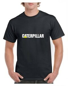 CATERPILLAR-T-SHIRT-BLACK-WHITE-GREY-S-2XL