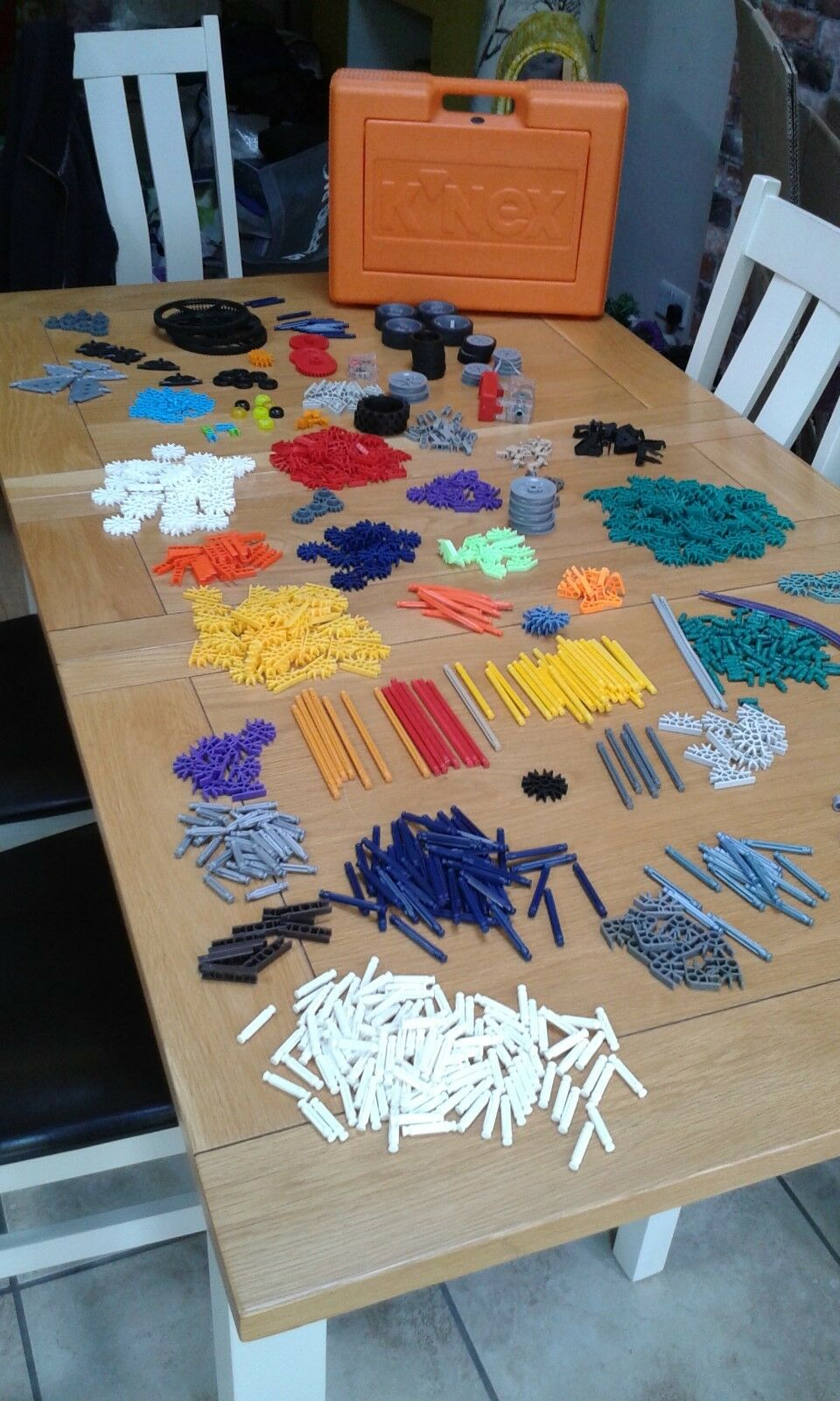K'NEX - large selection including case, various wheels and working motor.