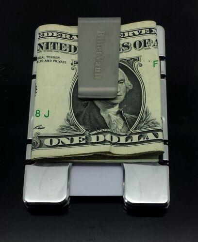 Billet Aluminum Wallet//Credit Card Holder American Flag RFID Protection,Silver