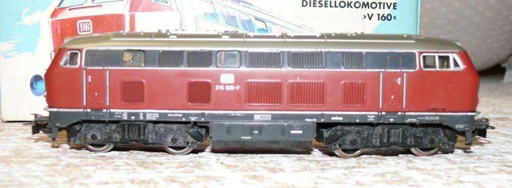 b29 3075 DIESEL BR 216 025-7 DB trasformazione in D/C corrente continua
