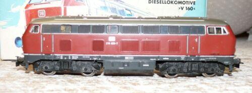 B29 Märklin 3075 diesellok br 216 025-7 DB transformación en d//c corriente continua