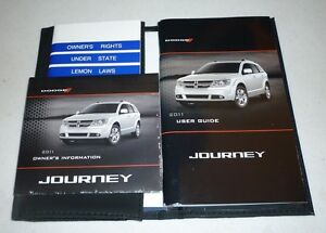 2011 dodge journey user guide owners manual set 11 case dvd ebay rh ebay com 2011 dodge journey owners manual 2010 dodge journey owners manual pdf