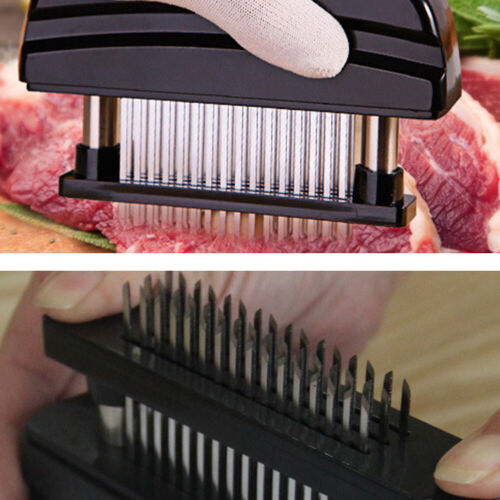 Pro Meat Tenderizer 48 Blade Stainless Steel Needle Prongs Kitchen Tool US