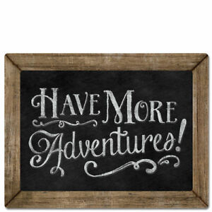 Framed-Chalkboard-Sign-Wall-Plaque-HAVE-MORE-ADVENTURES-Braided-Cord