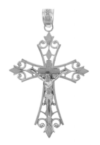 The Worship Crucifix Sterling Silver Crucifix Pendant Necklace