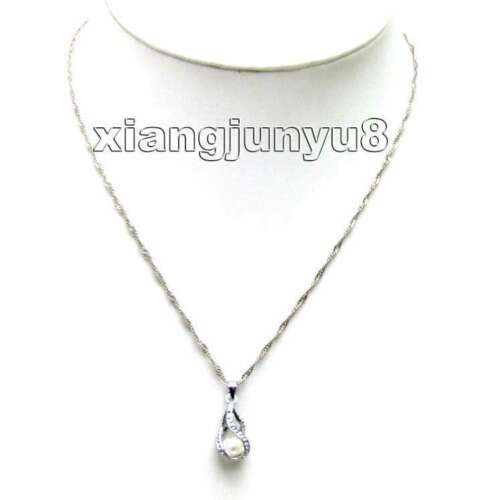 SALE One Box helix who120/_2 drop pendant Natural Pearl Necklace gift set Box