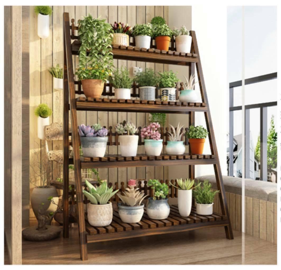 Wooden Plant Stand Multiple Tiers Plants Garden Patio Indoor Outdoor Strong